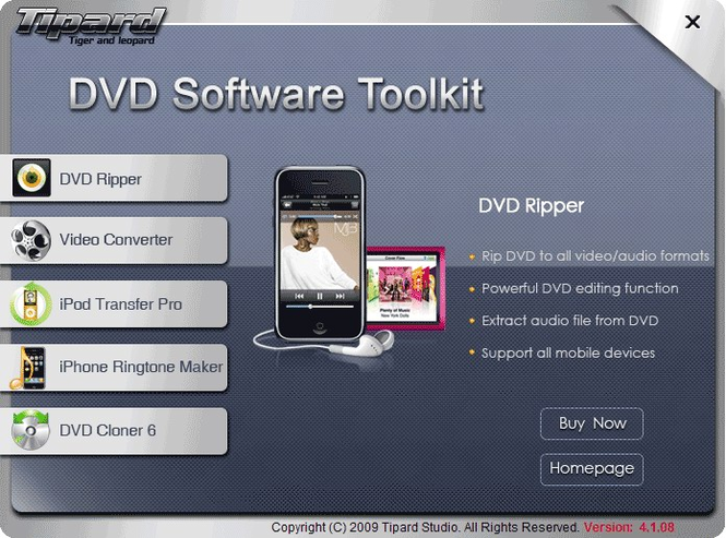 Tipard DVD Software Toolkit Screenshot
