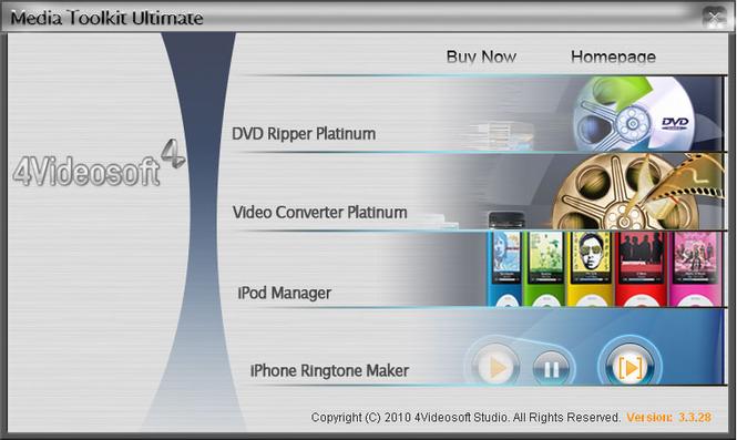 4Videosoft Media Toolkit Ultimate Screenshot 1