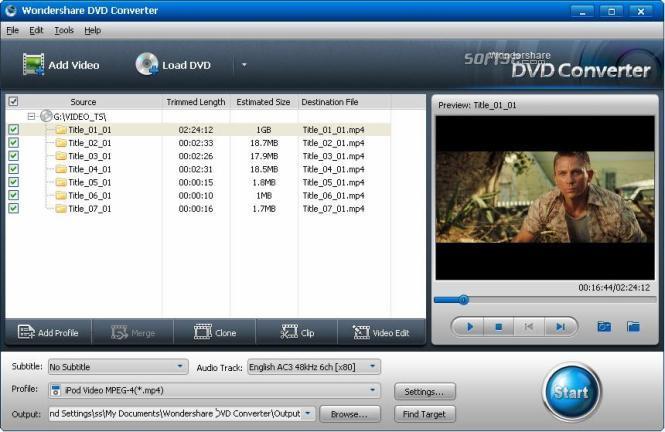 Wondershare DVD Converter Screenshot