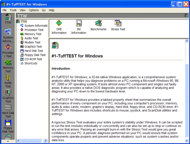 #1-TuffTEST for Windows Screenshot