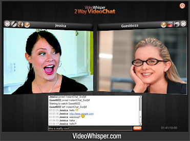 2 Way Video Chat Script Screenshot 1