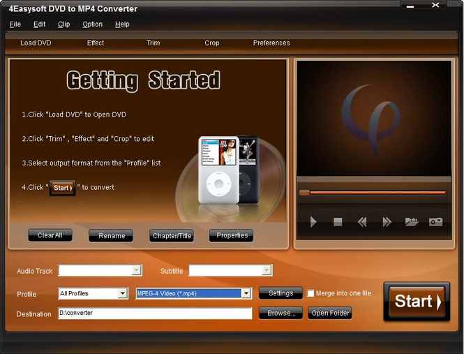 4Easysoft DVD to MP4 Converter Screenshot
