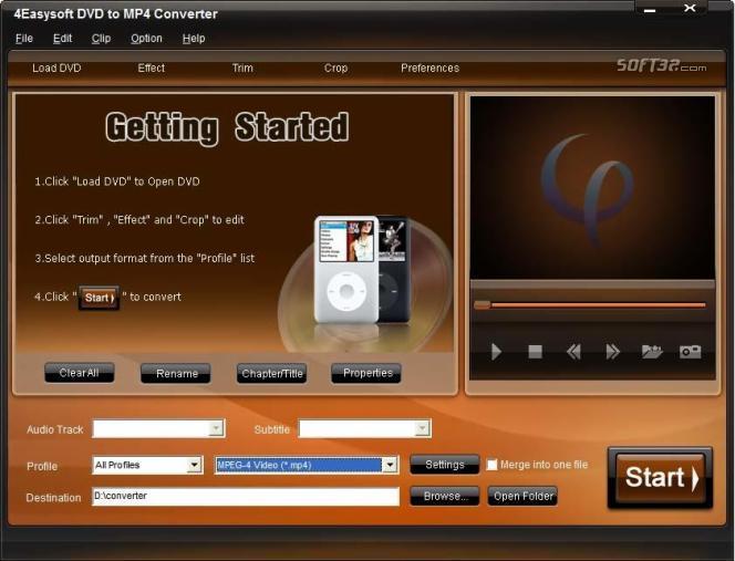 4Easysoft DVD to MP4 Converter Screenshot 2
