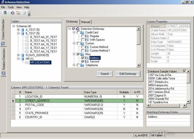 Schema Detective - Orbium Software Screenshot 2