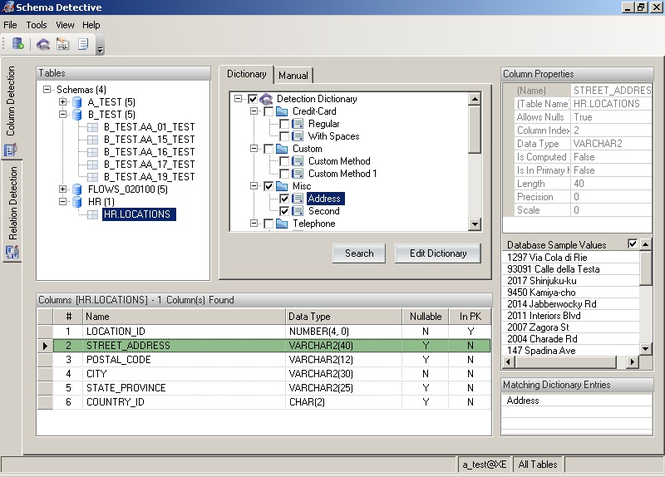 Schema Detective - Orbium Software Screenshot