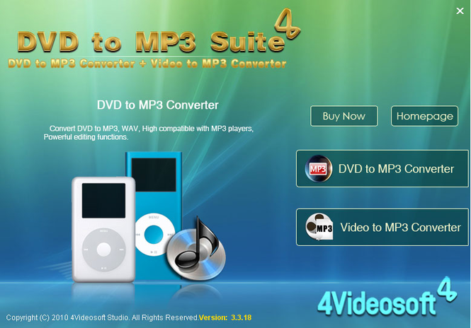 4Videosoft DVD to MP3 Suite Screenshot