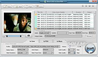WinX DVD to Zune Ripper Screenshot 3