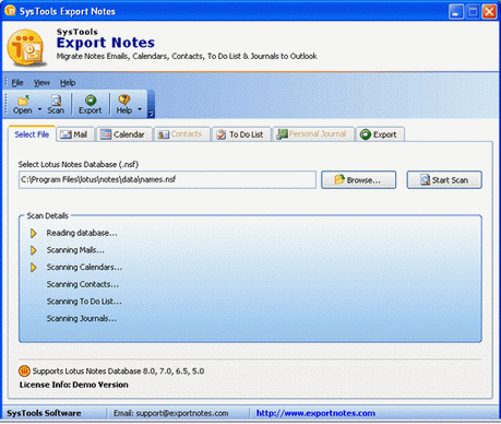 Convert Lotus Notes Screenshot