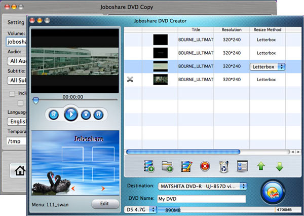 Joboshare DVD Maker Bundle for Mac Screenshot 1
