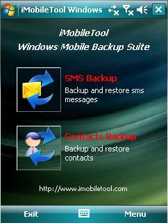 iMobileTool Windows Mobile Backup Suite Screenshot 1
