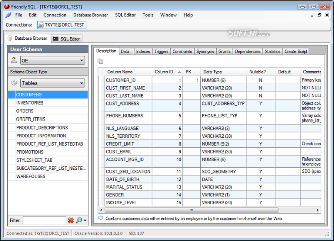 Friendly SQL Screenshot 1