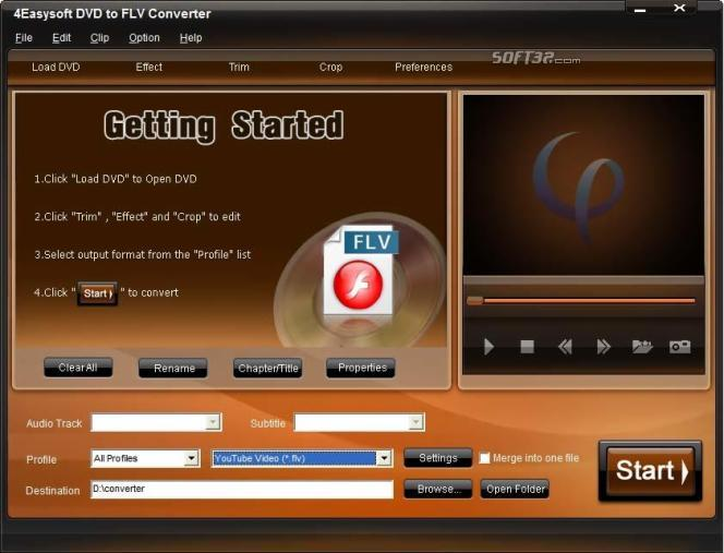 4Easysoft DVD to FLV Converter Screenshot 3