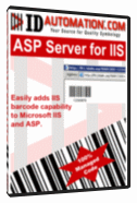 GS1 Databar ASP Barcode for IIS Screenshot