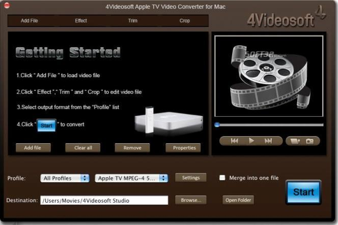 4Videosoft Apple TV Converter for Mac Screenshot 2