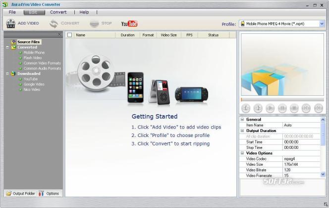 Aura Free Video Converter Screenshot 2
