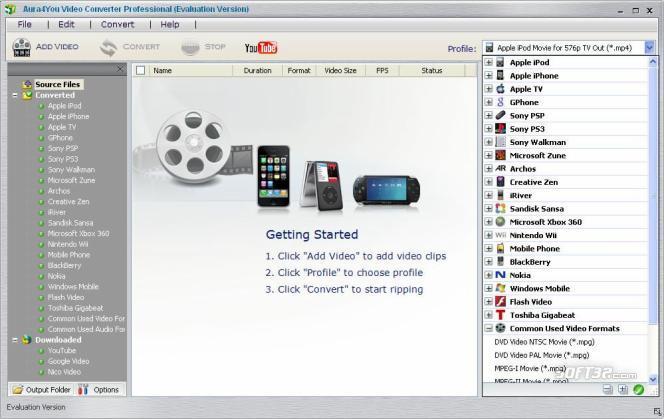 Aura Video Converter Screenshot 2