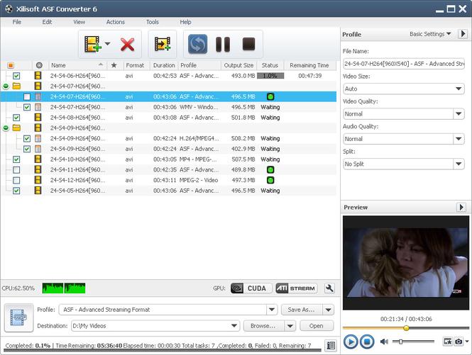 Xilisoft ASF Converter Screenshot 1