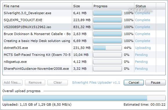 Silverlight Files Uploader Screenshot 2