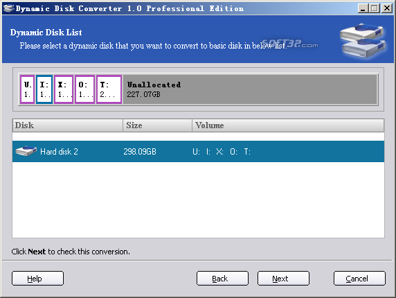 Dynamic Disk Converter Screenshot 2