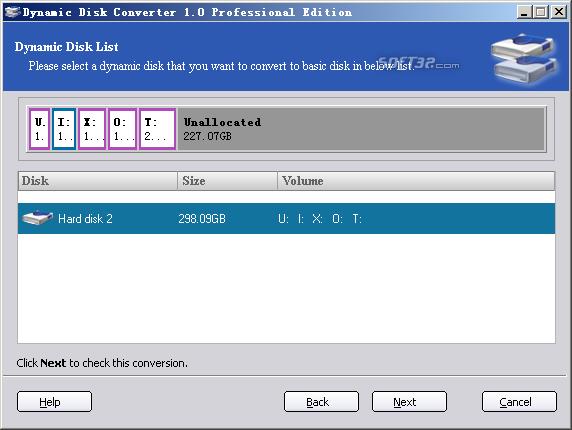 Dynamic Disk Converter Screenshot 2