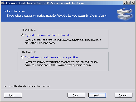 Dynamic Disk Converter Screenshot