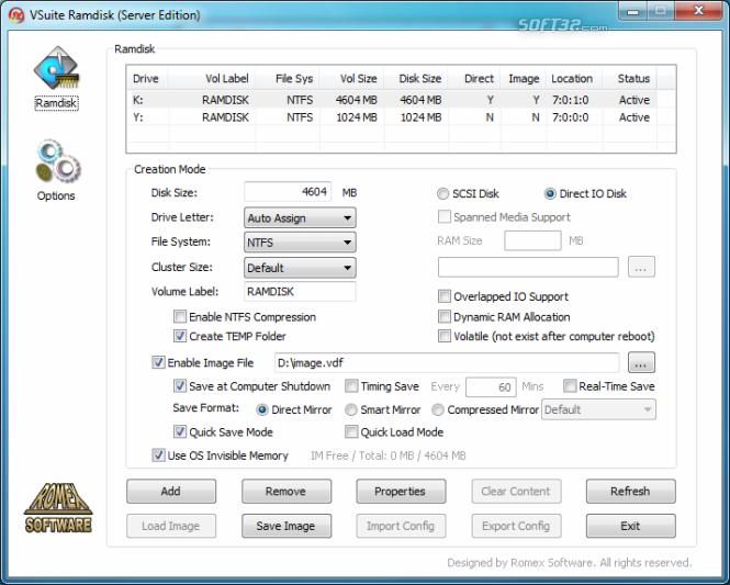 VSuite Ramdisk (Standard Edition) Screenshot 2