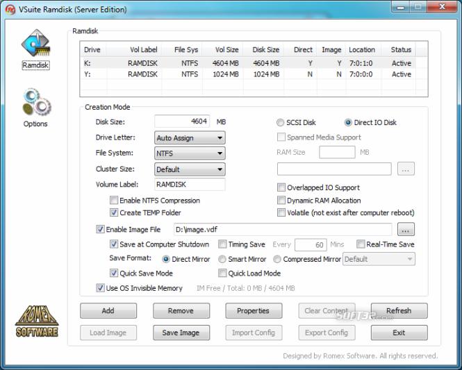 VSuite Ramdisk (Free Edition) Screenshot 2