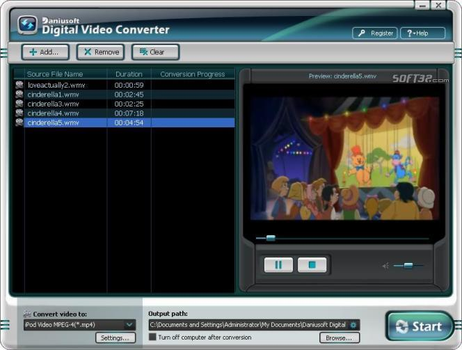 Daniusoft Digital Video Converter Screenshot 2