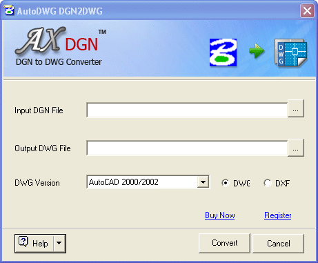 AutoDWG DGN to DWG Converter 2009.09 Screenshot