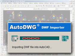 AutoDWG DWF to DWG Importer 200909 Screenshot