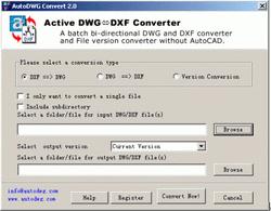 AutoDWG DWG DXF Converter 09.09 Screenshot 1