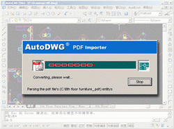 AutoDWG PDF to DWG importer 2009.09 Screenshot
