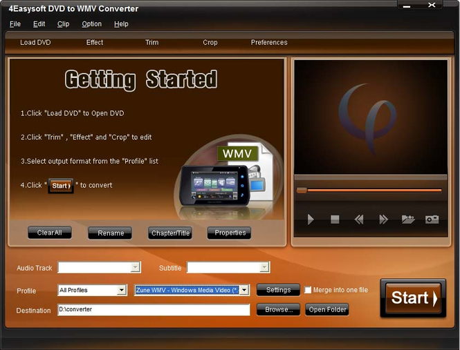 4Easysoft DVD to WMV Converter Screenshot
