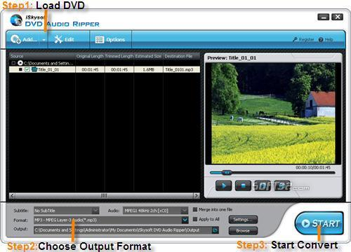 iSkysoft DVD Audio Ripper Screenshot 2