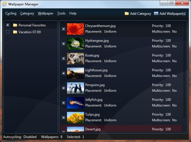 Wallpaper Manager Screenshot