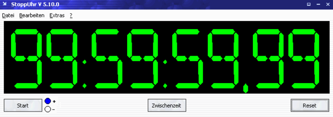 StoppUhr/Stopwatch Screenshot 1