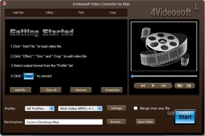 4Videosoft Video Converter for Mac Screenshot 2