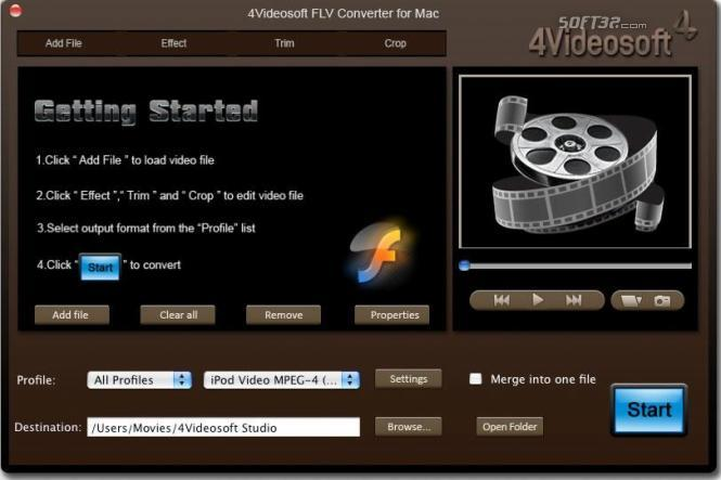 4Videosoft FLV Converter for Mac Screenshot 2