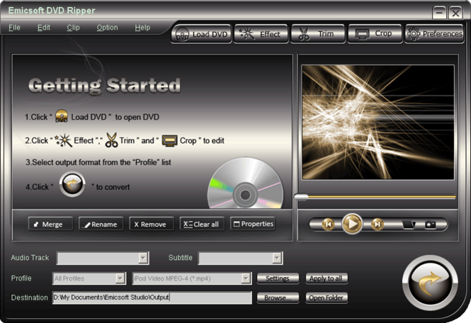 Emicsoft DVD Ripper Screenshot 1