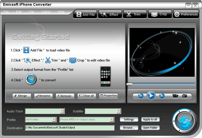 Emicsoft iPhone Converter Screenshot 1