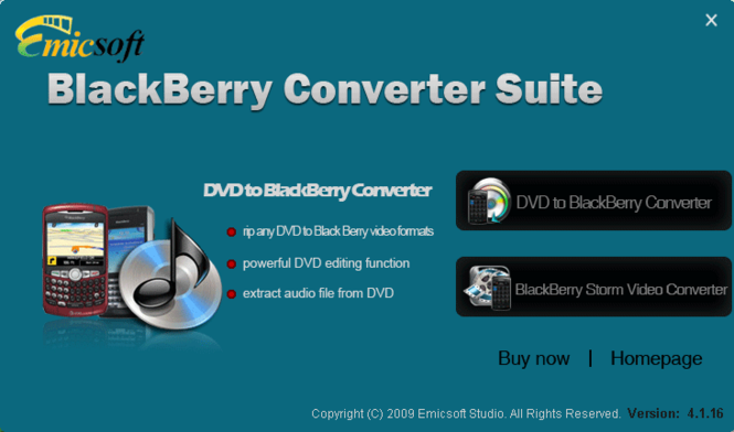 Emicsoft BlackBerry Converter Suite Screenshot 1