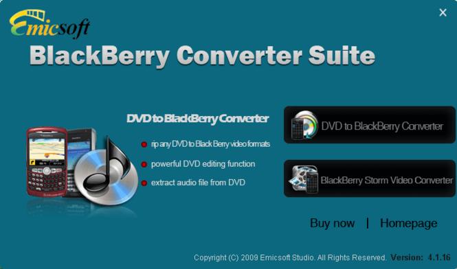 Emicsoft BlackBerry Converter Suite Screenshot