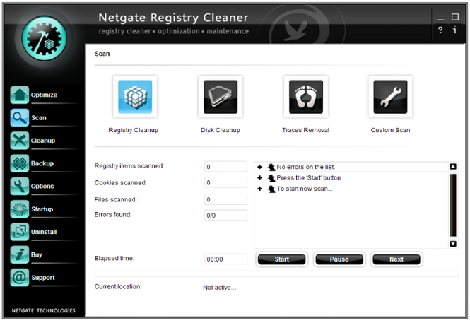 NETGATE Registry Cleaner Screenshot 1