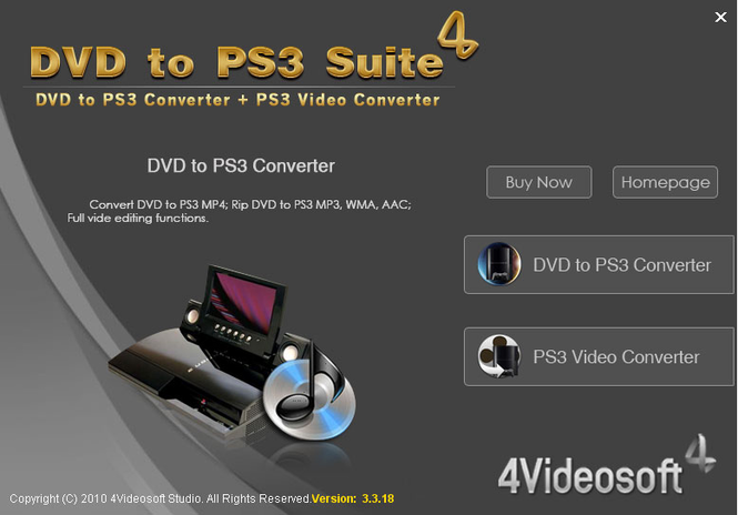 4Videosoft DVD to PS3 Suite Screenshot