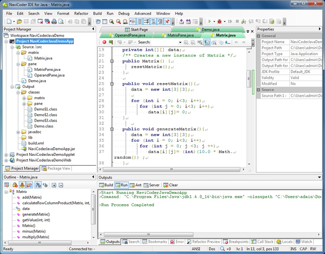 NaviCoder IDE for Java Lite (Java editor for Windows) For Non-commercial use only Screenshot