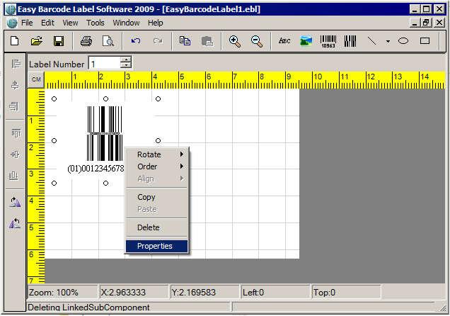 Easy Barcode Label Printing Software Screenshot