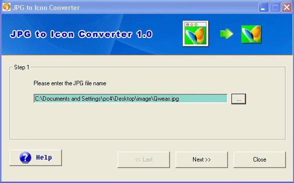 JPG to Icon Converter Screenshot