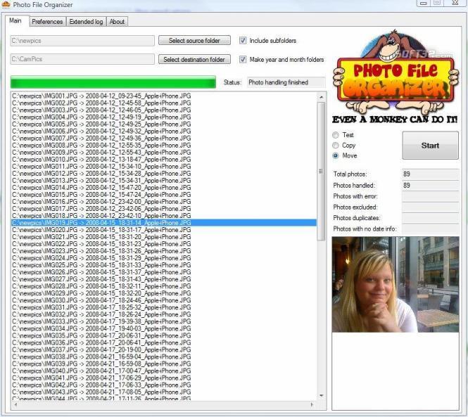 Photo File Organizer Screenshot 3