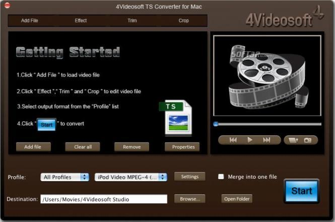 4Videosoft TS Converter for Mac Screenshot 2
