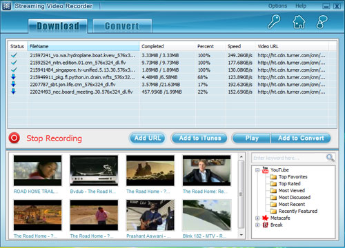 Streaming Video Recorder Screenshot